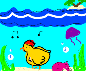 Singing underwater chicken...