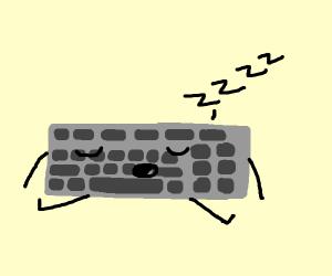 sleeping keyboard man