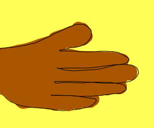 A brown hand