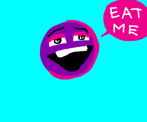 Purple ball wants to be eaten