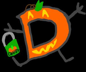 drawception but spooky jack-o-lantern