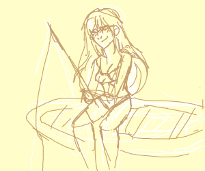 fishing on a raft