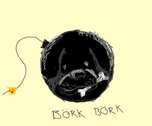 bomb dog (woof)