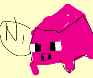 Minecraft pig says something not so good