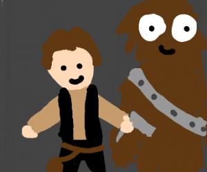 Jazza cosplaying as Han Solo