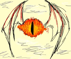 Sauron's eye grew wings and flies