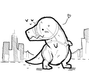 Dino builds a city