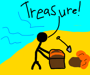 Man Finds An abandoned chest of treasure