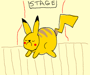 Pikachu has a meltdown on stage