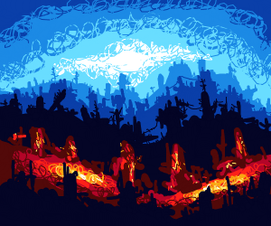 Cool fantasy landscape
