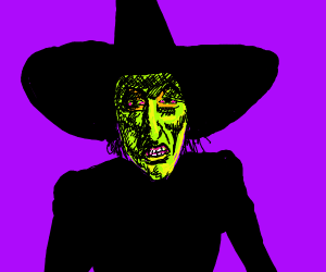 Evil witch from wicked