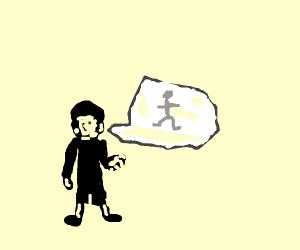 Boys talk about stick figures