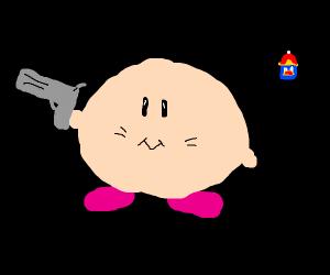 KIRBY HAS A GUN!!!