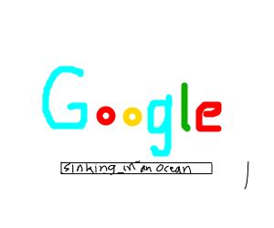 Googles sinking in the ocean