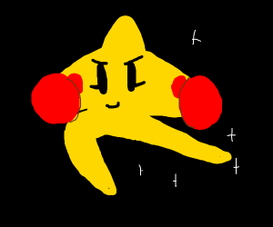 STAR WITH BOXING GLOVES