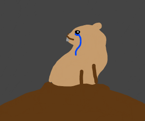 sad and depressed little gopher