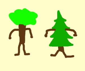 trees with human limbs