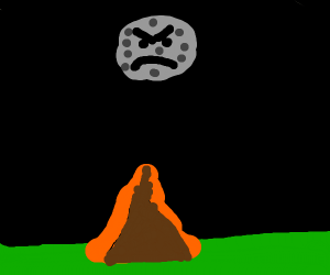 moon death staring at tent