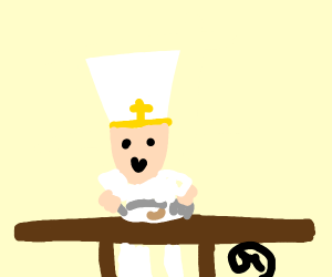 The Pope enjoys eating a single bean