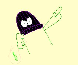 bank robber with ski mask