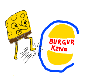 spongebob kicks burger king