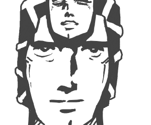 King Crimson with normal human face