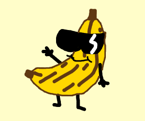 Banana wearing glasses