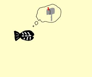 X-ray Fish imagining a Mailbox
