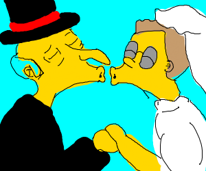 smithers and mr burns wedding finally
