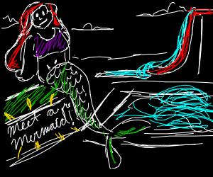 Mermaid at a waterpark