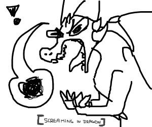 Dragon screams in dragon