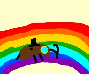 Bean on a rainbow
