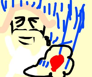 bearded woman loves thunderstorm