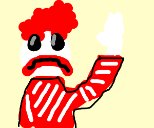 scary ronald mcdonald waving