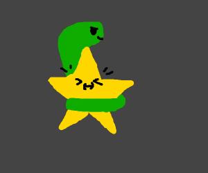 snake strangiling a star