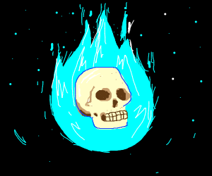 A Floatin' Neon Skull Guy