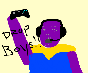thanos plays fortnite