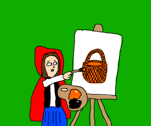 Little Red Riding Hood Painting
