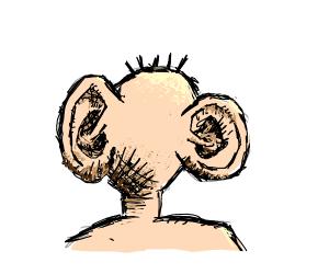 Giant ears on a blank face?