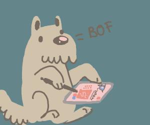 Scottish Terrier playing Drawception