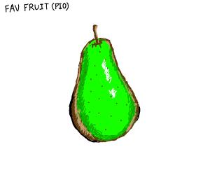 fave fruit PIO