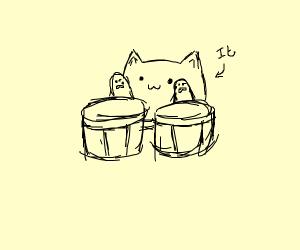 "Bongo cat's name is ""It"""