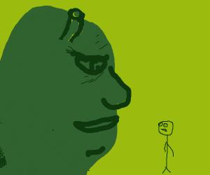 Shrek asserts his dominance