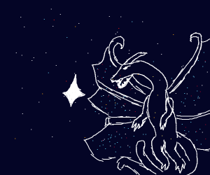 Space Dragon eating a star