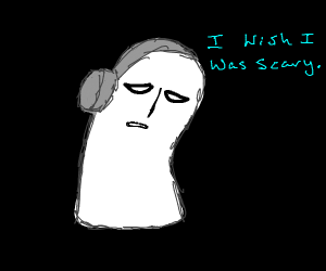 napstablook wishes he was scary