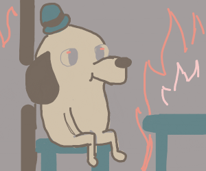 """This is fine"" dog"