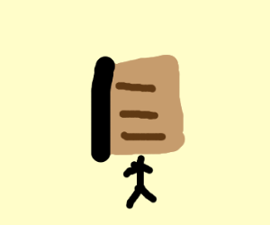 Guy with a book for a head