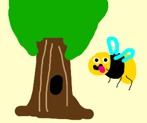 Cute Tree and Bee