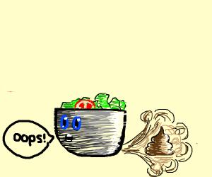 a salad mistake