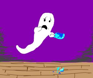 Ghost broke a teacup